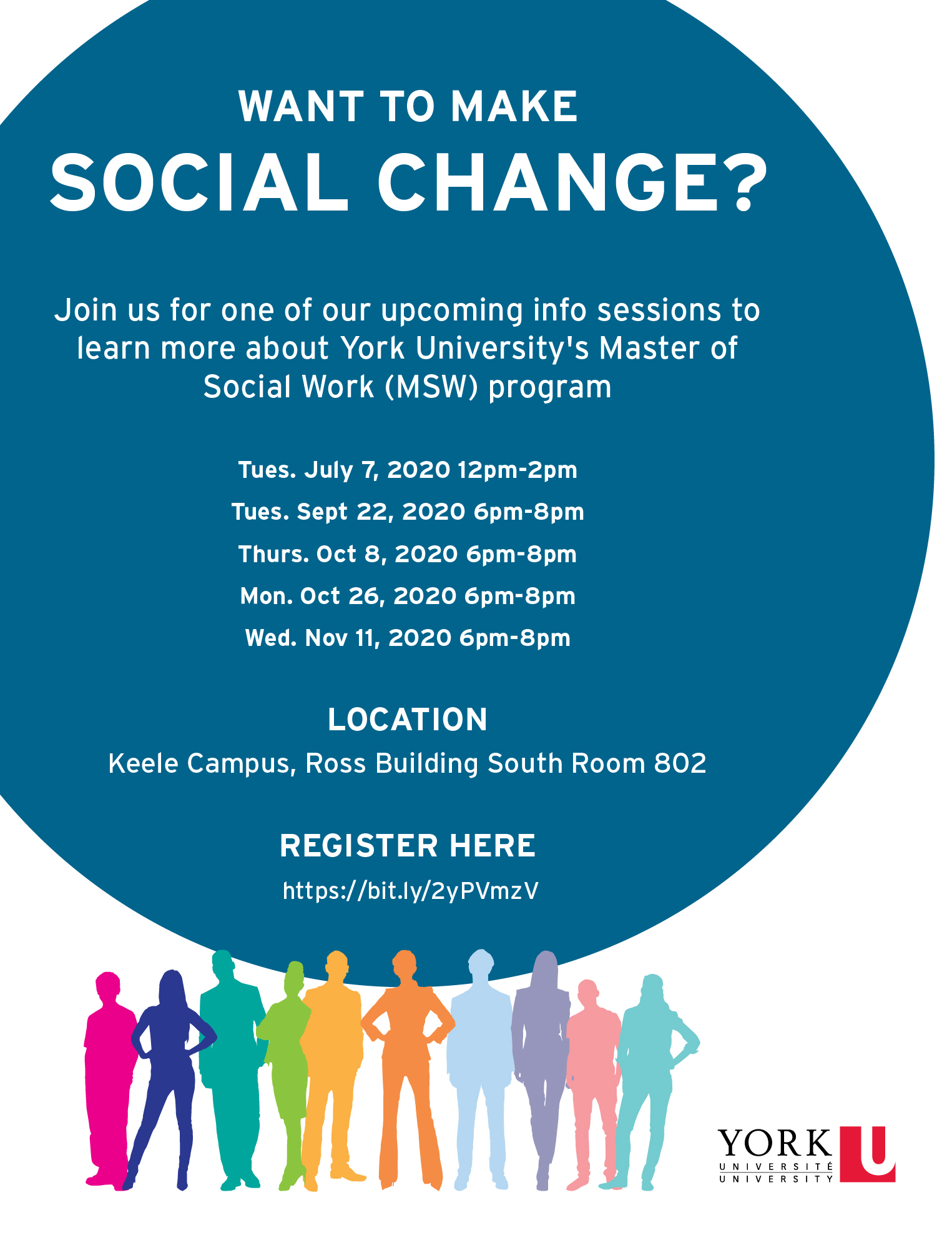 2020 MSW Information Session @ Keele Campus, South Ross Room 802